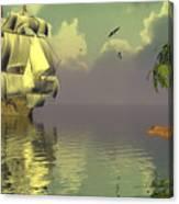 Rain Squall On The Horizon Canvas Print