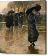 Rain Storm Union Square Canvas Print