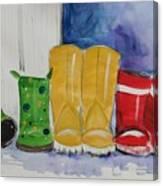 Rainboots Canvas Print