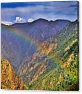 Rainbow Across Canyon Canvas Print