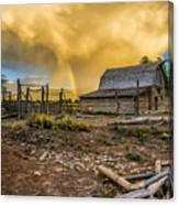 Rainbow At Moulton Barn Canvas Print