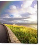 Rainbow At  Seaside Canvas Print