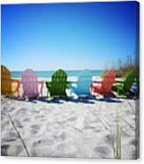 Rainbow Beach Vanilla Pop Canvas Print
