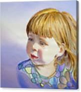 Rainbow Breeze Girl Portrait Canvas Print