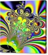 Rainbow Butterfly Bouquet Fractal Abstract Canvas Print