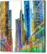 Rainbow Cityscape Canvas Print
