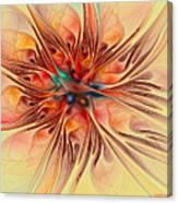 Rainbow Colored Flower Canvas Print