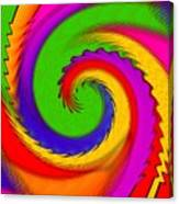 Rainbow Coloured Cock Swirl H B Canvas Print