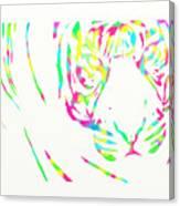 Rainbow Coloured Tiger Canvas Print