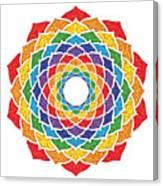 Rainbow - Crown Chakra - Pointillism Canvas Print