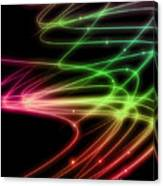 Rainbow Curves Canvas Print