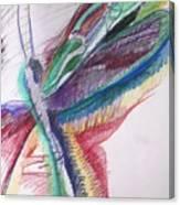 Rainbow Dragonfly Canvas Print