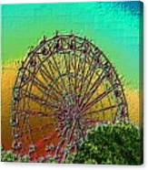 Rainbow Ferris Wheel Canvas Print