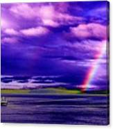 Rainbow Ferry Canvas Print