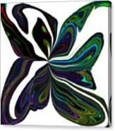 Rainbow Firefly Abstract Canvas Print