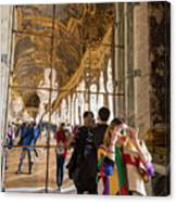 Rainbow Girl In The Hall Of Mirrors Canvas Print