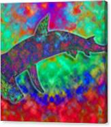 Rainbow Hammerhead Shark Canvas Print