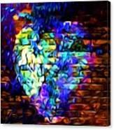 Rainbow Heart On A Wall Canvas Print