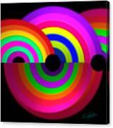Rainbow In 3d Canvas Print