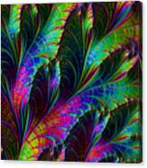 Rainbow Leaves Canvas Print