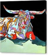 Rainbow Longhorn Canvas Print