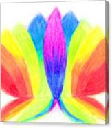 Rainbow Lotus Canvas Print