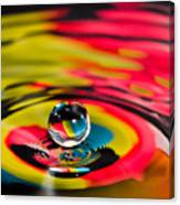 Rainbow Marble Water Drop Canvas Print