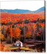 Rainbow Of Autumn Colors Canvas Print