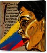 Rainbow Of Words Canvas Print