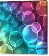 Rainbow Orbs Canvas Print