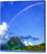Rainbow Over Bora Bora Canvas Print