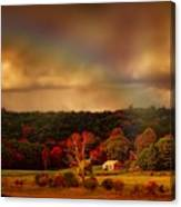 Rainbow Over Countryside Canvas Print