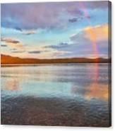 Rainbow Over Magalloway  Canvas Print