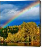 Rainbow Over Mill Pond Canvas Print