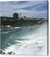 Rainbow Over Niagra Falls Canvas Print
