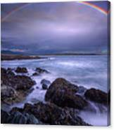 Rainbow Over The Biddeford Pool Canvas Print