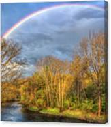 Rainbow Over The River Canvas Print