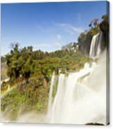 Rainbow Over The Waterfall Canvas Print