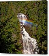 Rainbow Over Whitewater Falls Canvas Print