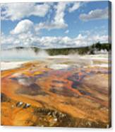 Rainbow Pool In Yellowstone National Park Canvas Print