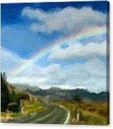 Rainbow Road - Id 16217-152055-0118 Canvas Print
