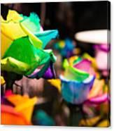 Rainbow Roses Canvas Print