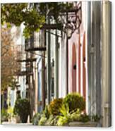 Rainbow Row Charleston Sc 2 Canvas Print