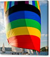 Rainbow Sail Canvas Print