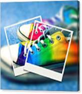 Rainbow Sneakers One Canvas Print