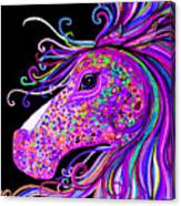 Rainbow Spotted Horse Head 2 Canvas Print