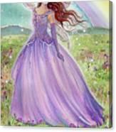 Rainbow Spring Fairy Canvas Print