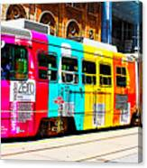 Rainbow Streetcar Canvas Print