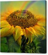 Rainbow Sunflower Canvas Print