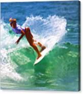 Rainbow Surf Day Canvas Print
